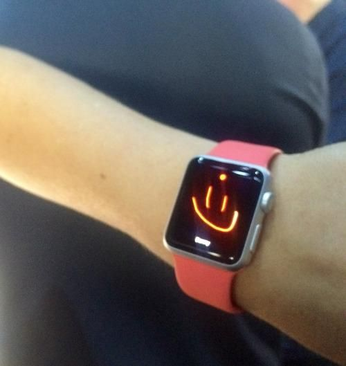 Drawn watch arm Want Watch Except an Apple