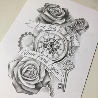 Drawn watch arm Tattoo Pinterest Pinterest keresés clock