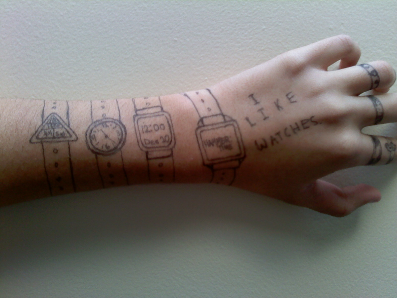 Drawn watch arm Your To Something Cool of