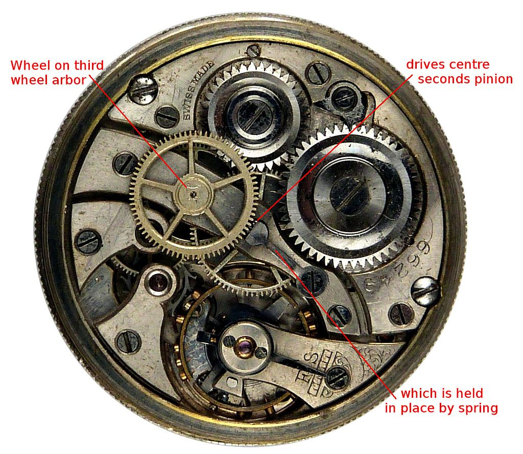 Drawn watch fancy Technical watch About details movements: