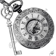 Drawn watch fancy Family Pocket Argento in old