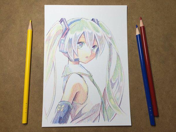 Drawn watch fancy Twitter Hatsune Miku with de