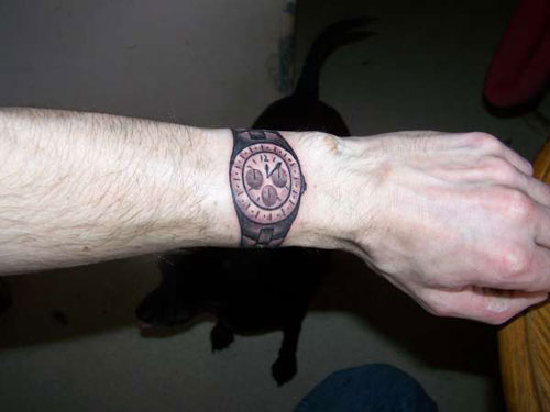 Drawn watch hand watch & for to and a