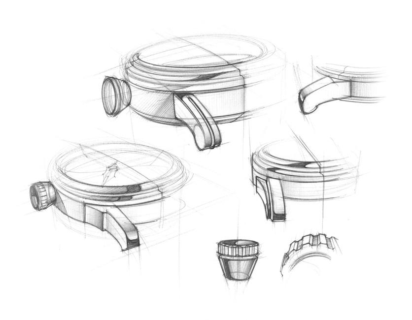 Drawn watch hand watch The start sketches  drawn