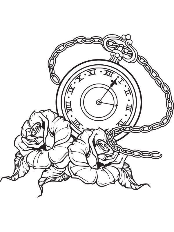 Pocket Watch clipart chain drawing Vinyl art ideas Pocket 25+