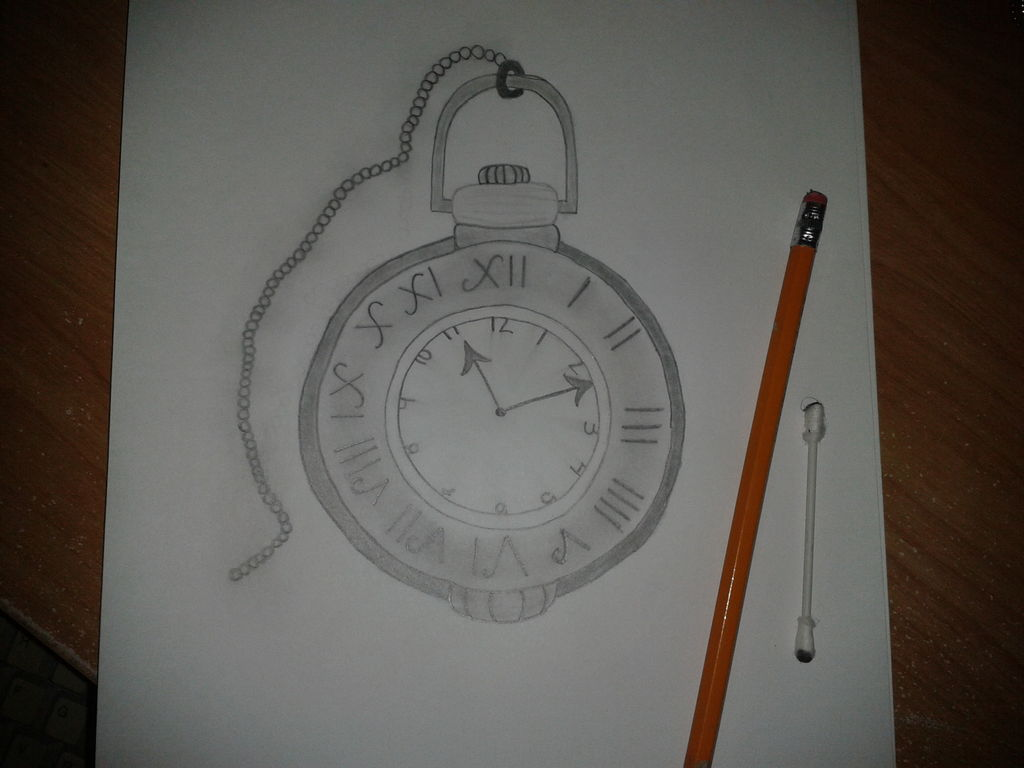 Drawn watch old fashioned How Pocket Pictures) a Draw: