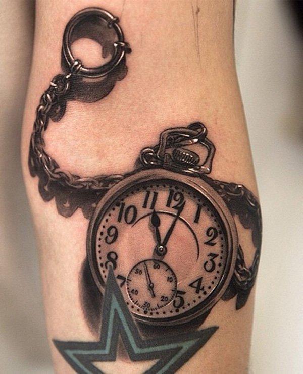 Drawn watch old fashioned Pocket For Tattoos Design Tattoo