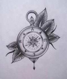 Drawn watch old school Hledat SchoolTattoo MeTattoo old TattooCompass