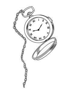 Pocket Watch clipart chain drawing From design  com Steampunk