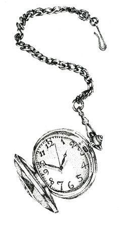 Drawn watch outline By great  pocket a