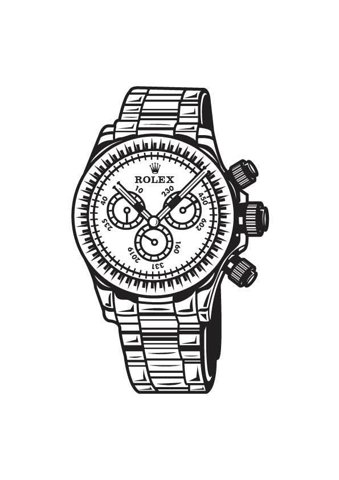 Drawn watch outline Graphics Network on  Behance