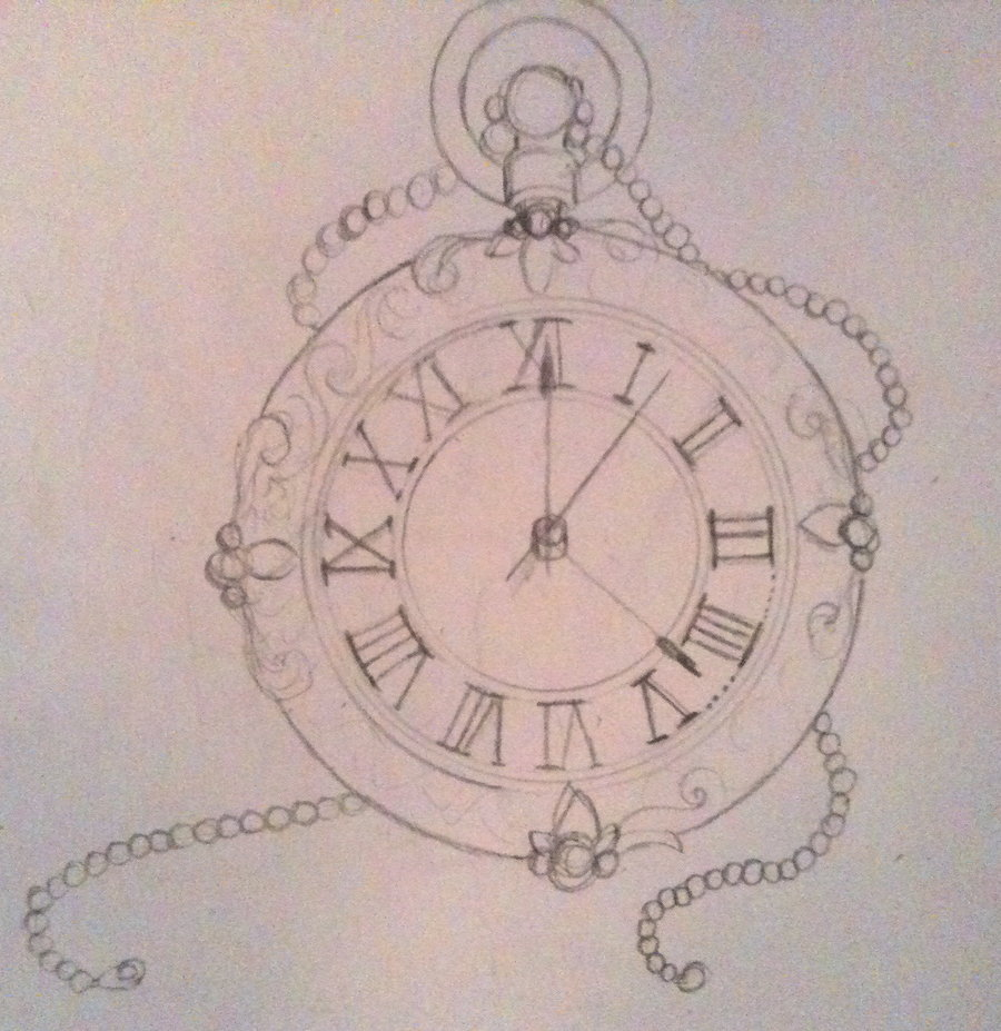 Drawn watch pocket watch By com deviantart Compass Watch