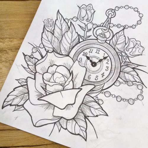 Drawn watch pocket watch Grey drawing Pocket tattoos zoeken