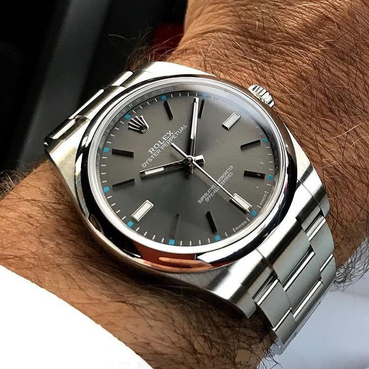 Drawn watch rhodium PERPETUAL herren about ROLEX DIAL
