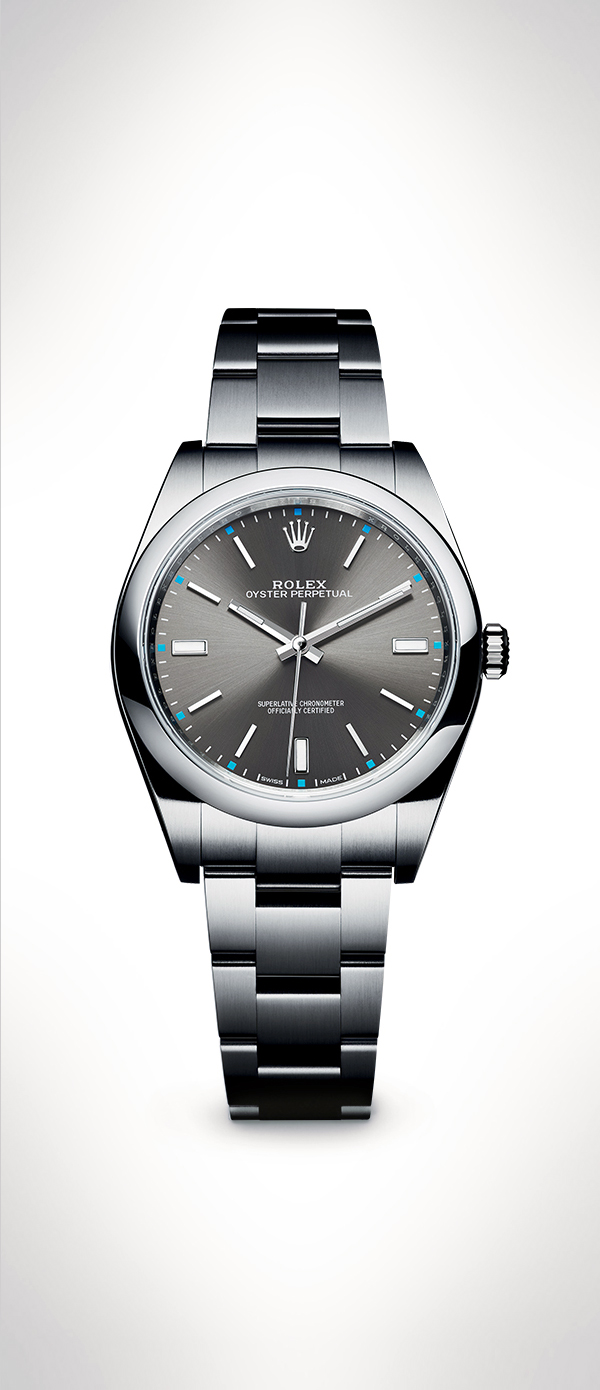 Drawn watch rhodium Oyster dial a The The