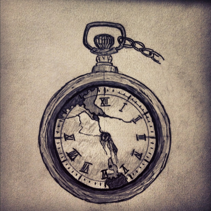 Pocket Watch clipart hand watch One watch in from back