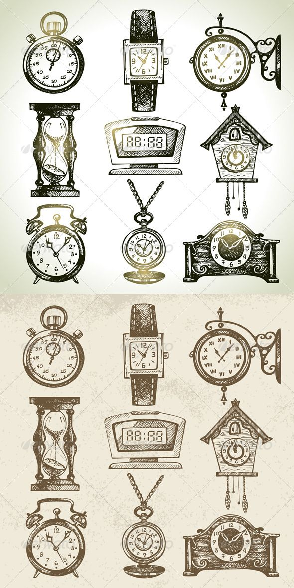 Drawn watch stopwatch Clock Best Watch and on