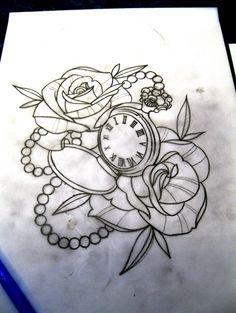 Drawn watch traditional Tattoo tattoo pocket by Tattoo