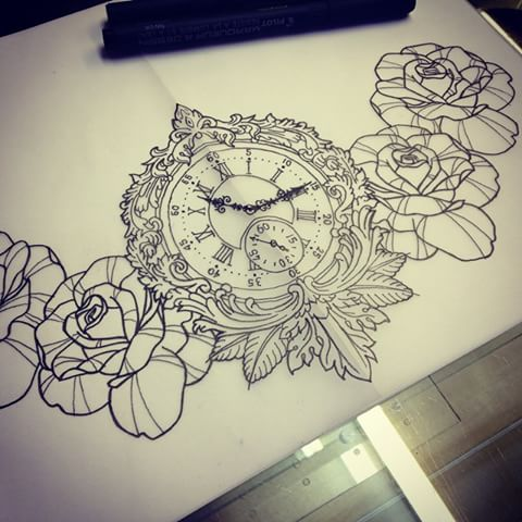 Drawn watch traditional Patterned and Roses Instagram Neo
