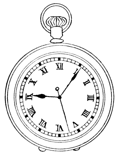 Pocket Watch clipart old school With one near ring second
