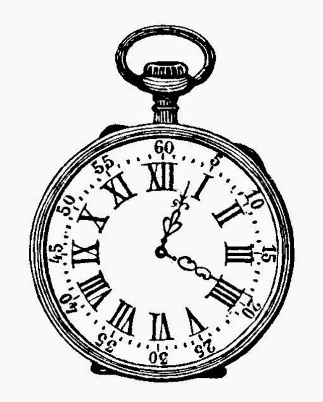 Pocket Watch clipart sketch Ink FUN ✿  vintage
