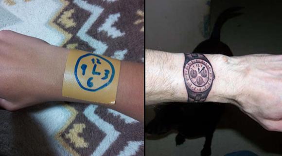 Drawn watch wrist watch Drawn a tattoo This watch