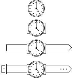 Drawn watch wrist watch Wrist Nuggethead a Shape: is