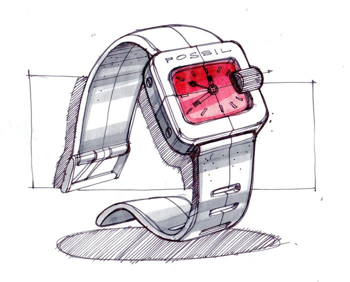 Drawn watch wrist watch Sketches Example rather on Pinterest