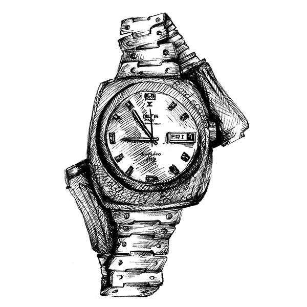 Drawn watch wrist watch  Behance Paper Drawn Wall