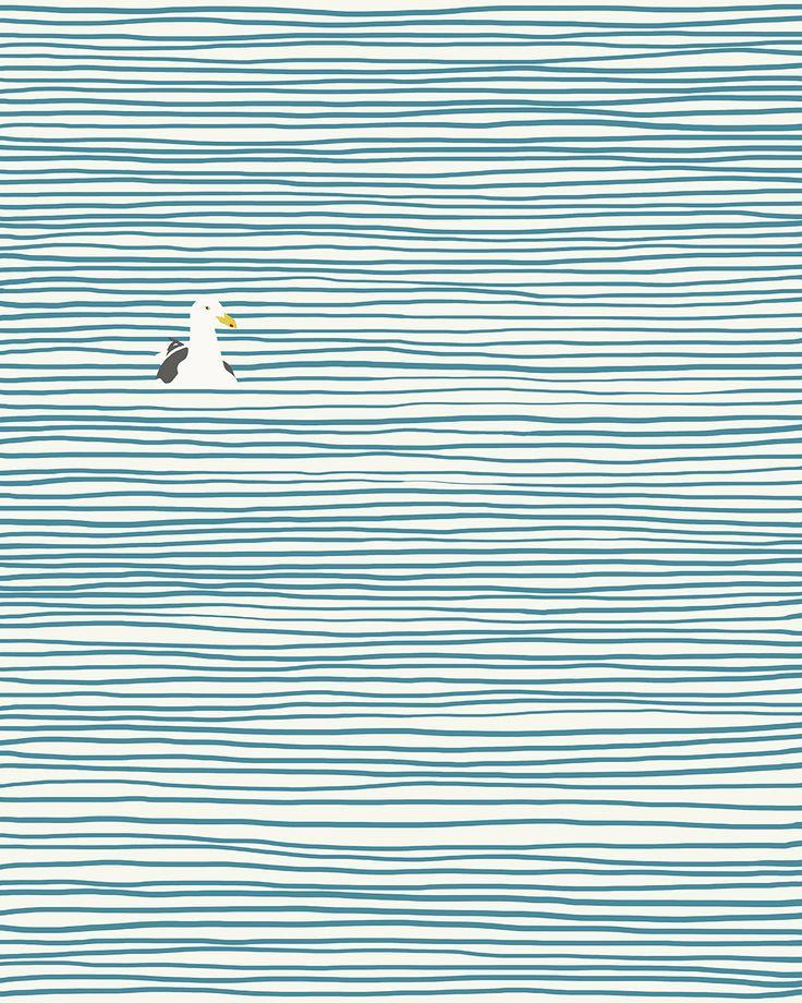 Drawn pattern water 25+ Seagull Beach + DrawingWater