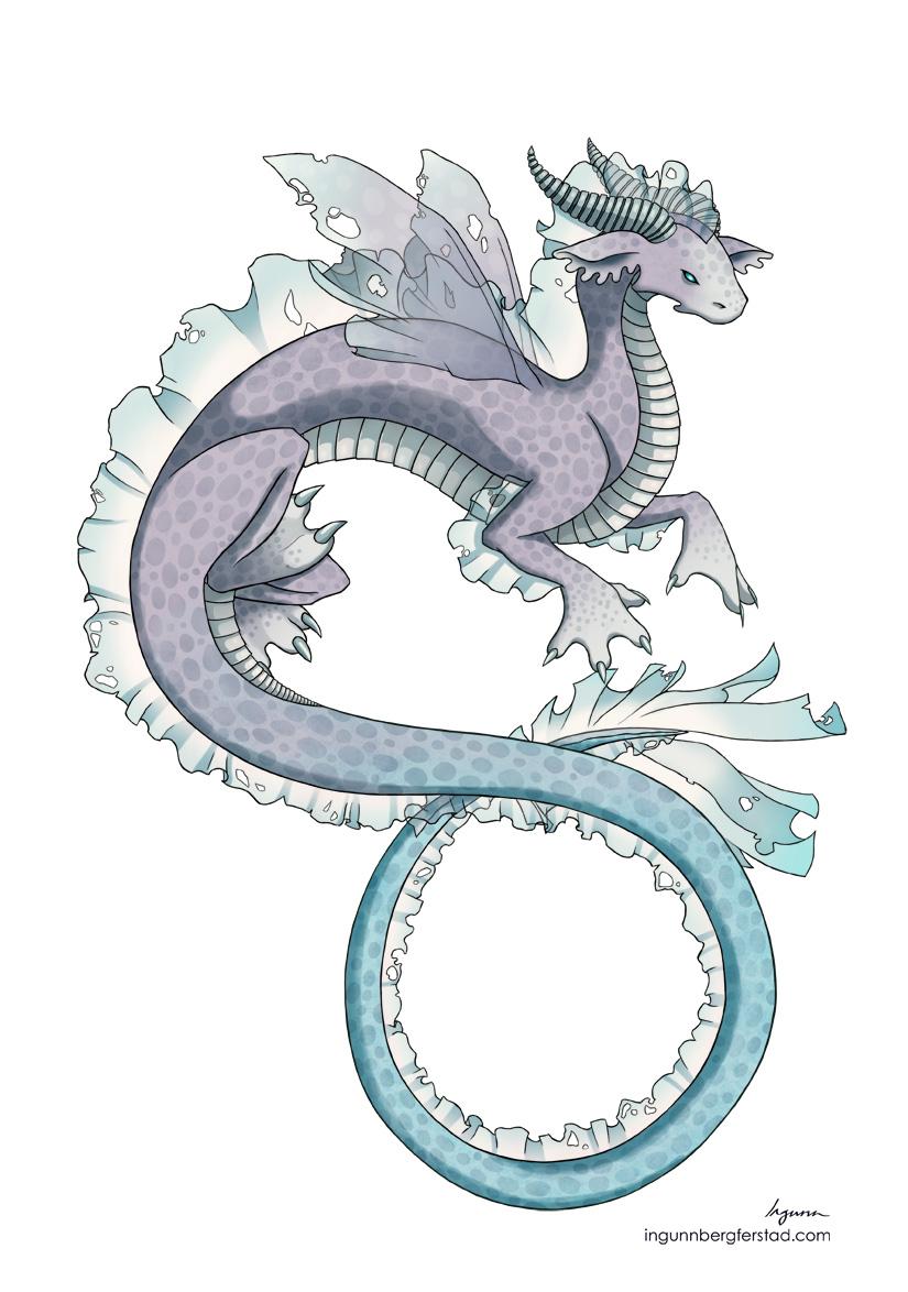 Drawn water dragon Dragon dragon ingunnbf DeviantArt on