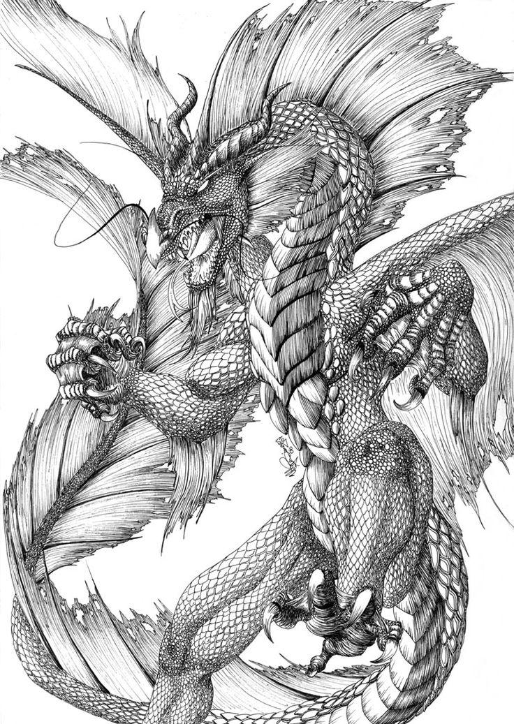 Drawn water dragon Dragon water Best 25+ Water