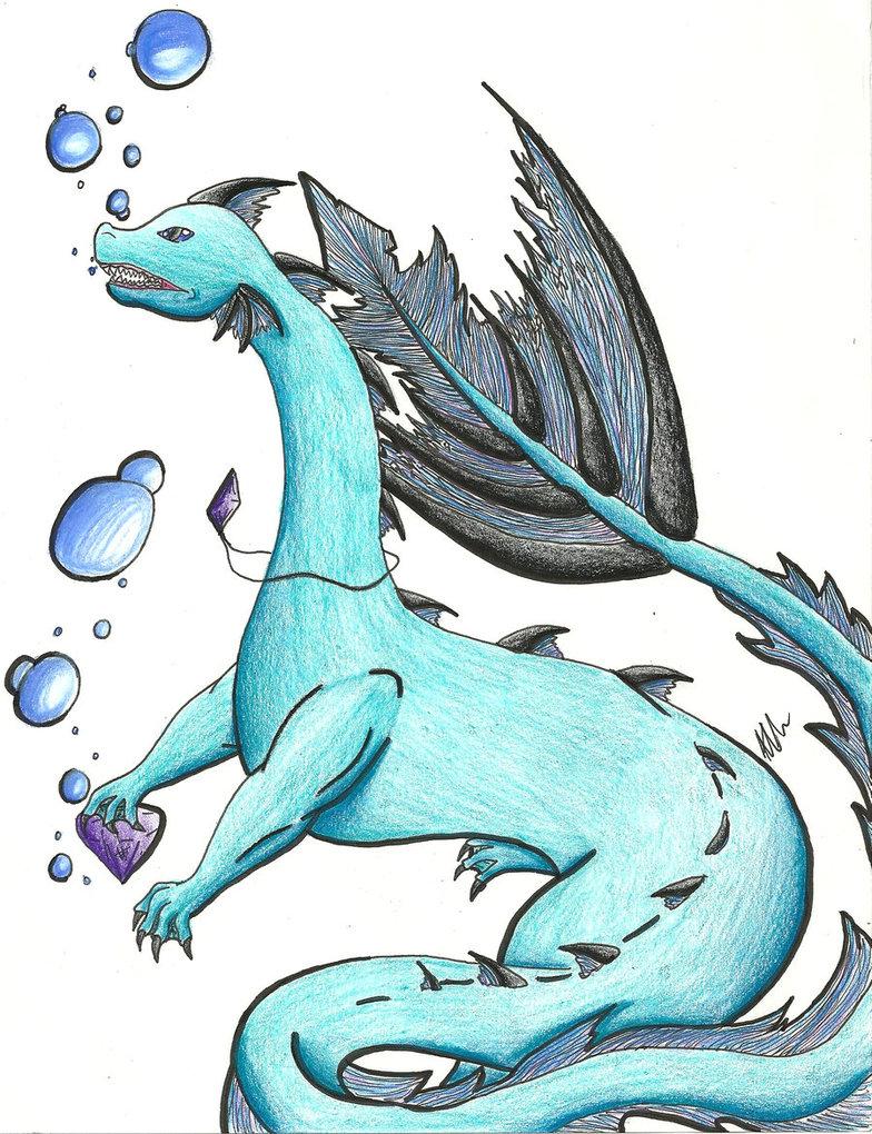 Drawn water dragon Dragon DeviantArt Water by r3n33gurl101