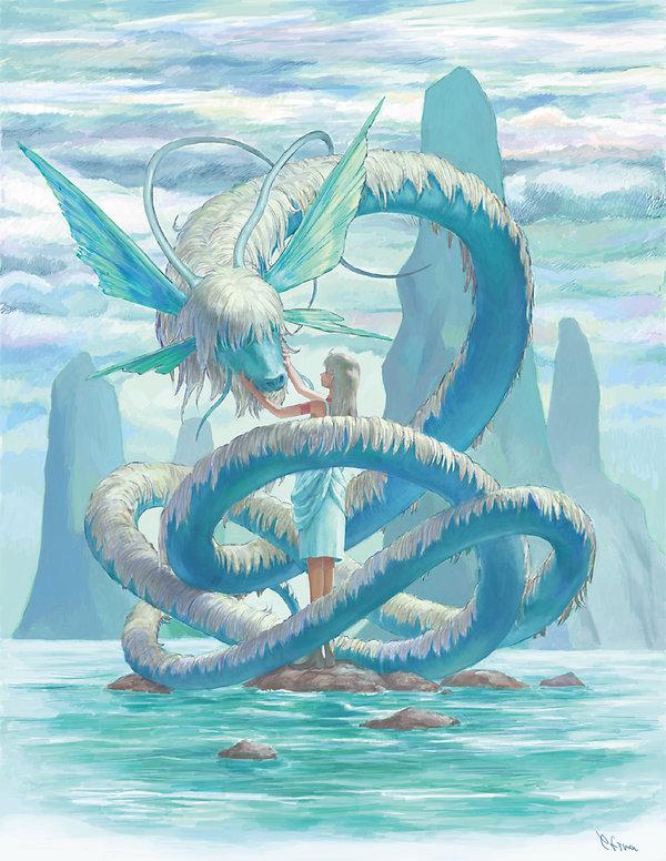 Drawn water dragon Dragon japan DeviantArt Water on