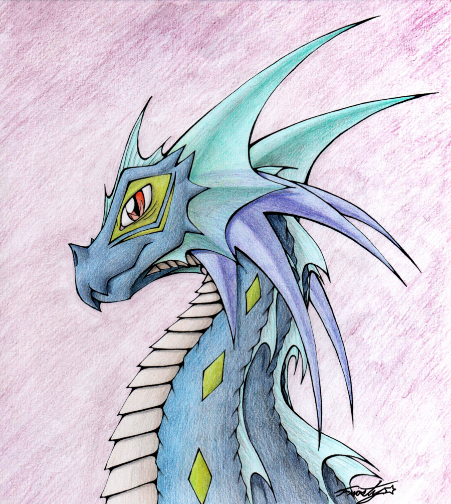 Drawn water dragon Best Mythical dragons drawings 25