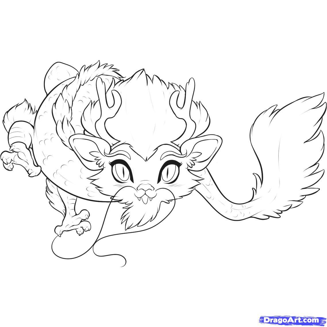 Drawn chinese dragon anime #1