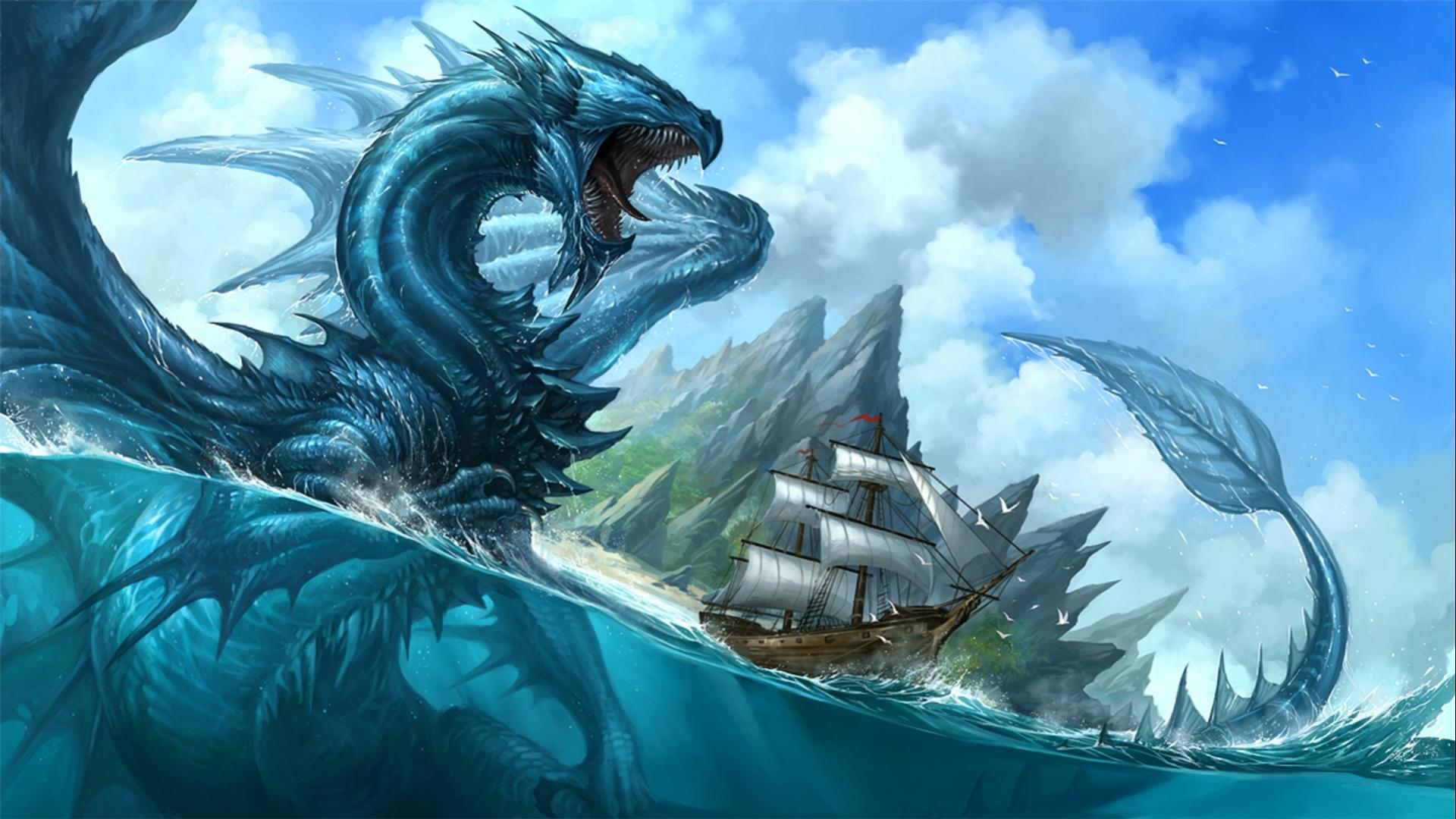 Blue Dragon clipart water dragon Water water DRAGONS Realistic dragon