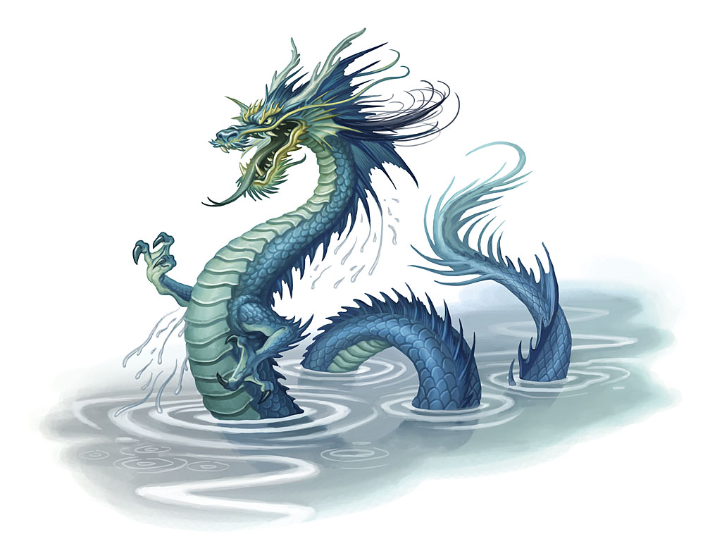 Blue Dragon clipart water dragon Dragon Water with Realistic Dragon