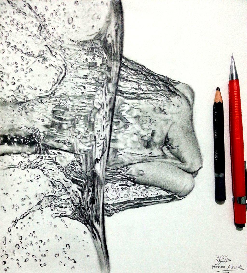 Drawn waterdrop splashing drawing Drawing Hannaasfour drawing drawing by