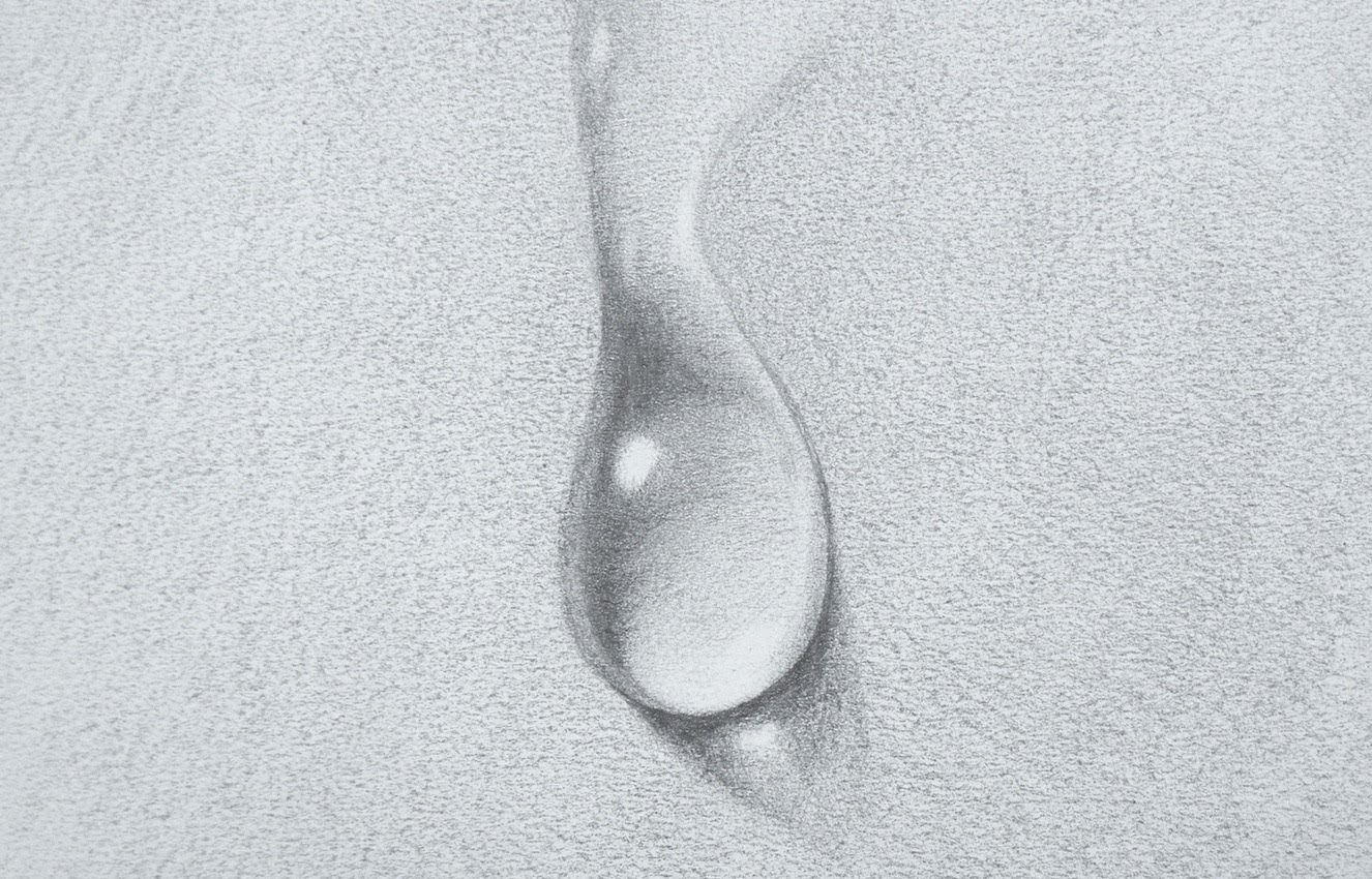 Drawn waterdrop Tips draw: to Art Water