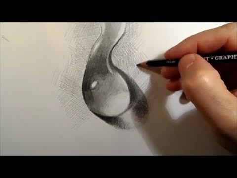 Drawn water drop #12