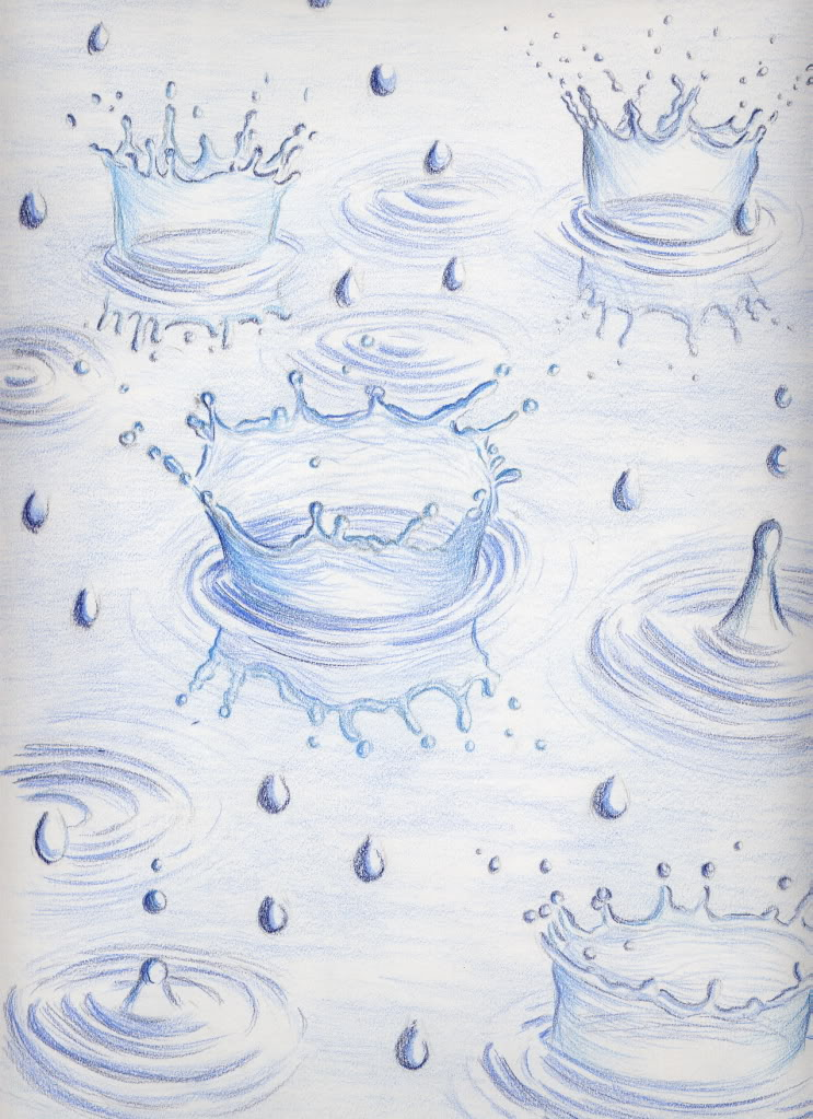 Drawn raindrops rain droplet Rain  drops Pinterest Colored