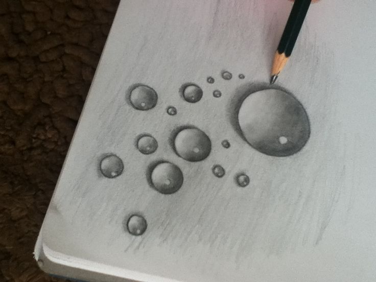 Drawn water droplets Before on droplets they're ideas
