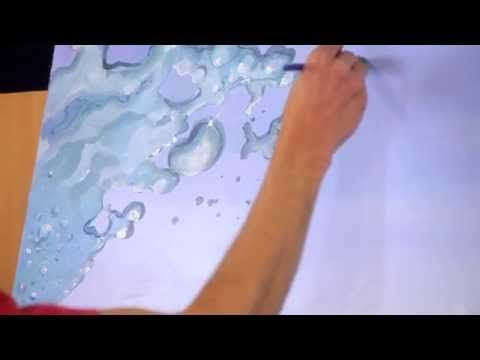 Drawn water droplets bubble Best to How water paint