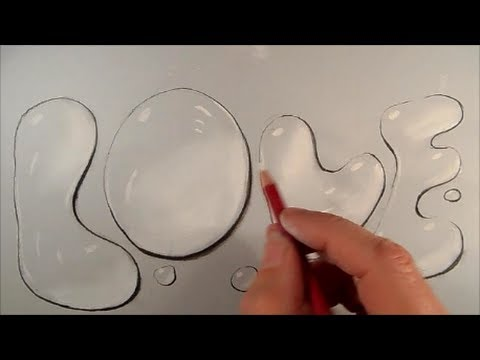 Drawn water droplets bubble YouTube How Draw to Drawing