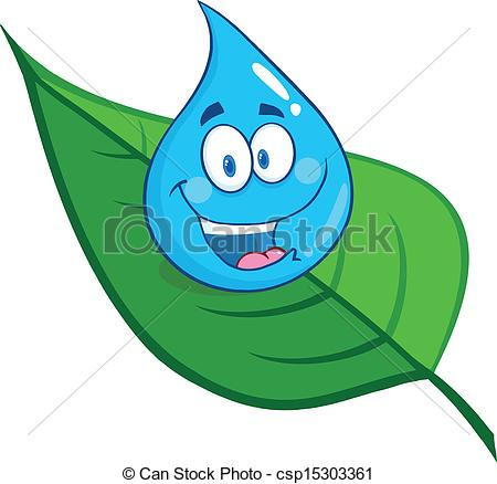 Drawn water droplets cartoon Droplet 19 Character Smiling clipart