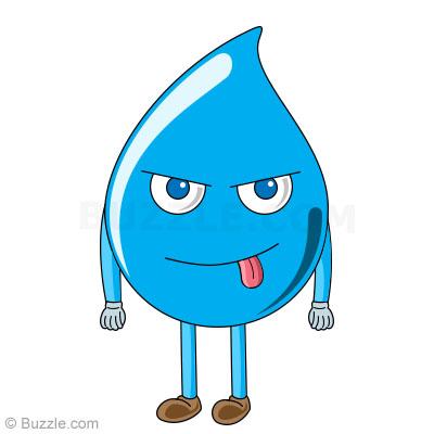 Drawn waterdrop step by step Water cartoon Water How by