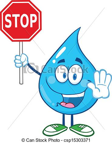 Drawn water droplets cartoon Water Stop Illustration Water