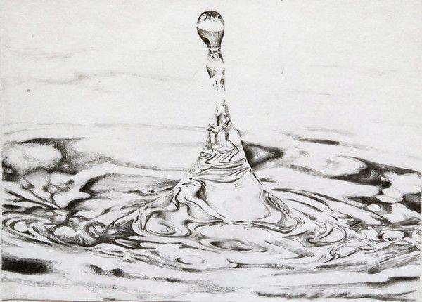 Drawn waterdrop splashing drawing Images Pencil Drawing 38 Water