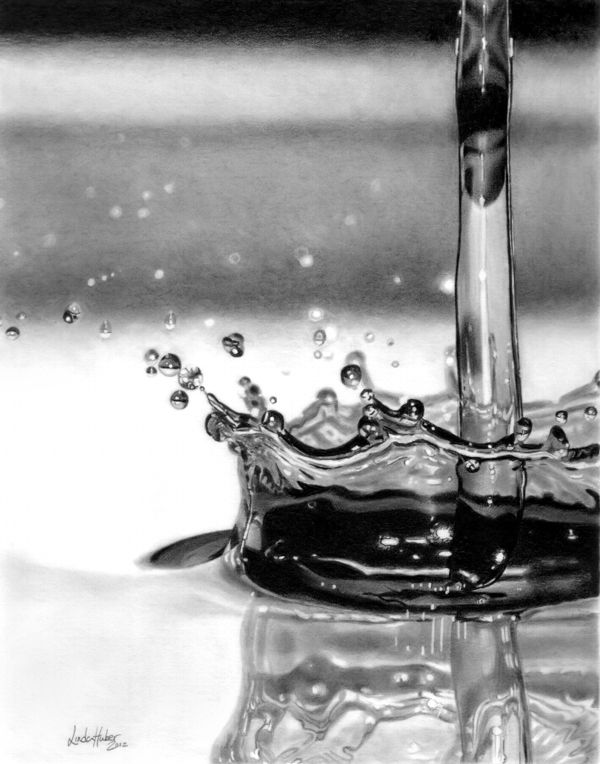 Drawn waterdrop splashing drawing Images Pinterest Pencil Drawing Drawings